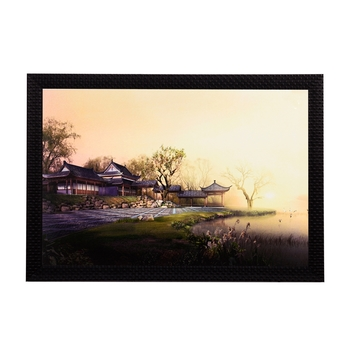Wood House Satin Matt Texture UV Art Painting