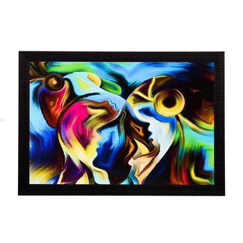 Abstract Figure Satin Matt Texture UV Art Painting