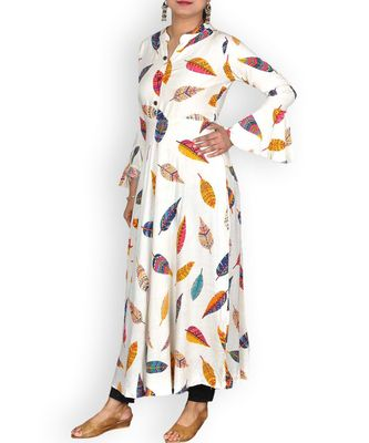 Multicolored Rayon Printed Dress