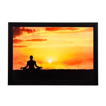 Meditating Person Satin Matt Texture UV Art Painting