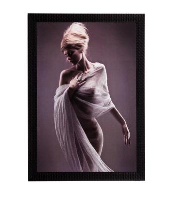 Silent Woman Satin Matt Texture UV Art Painting