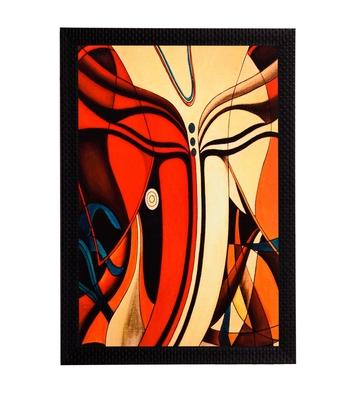 Abstract Lord Ganesha Face Satin Matt Texture UV Art Painting