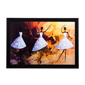 White Dancing Figurine Satin Matt Texture UV Art Painting