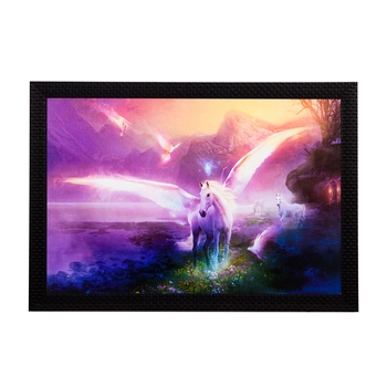 Glowing Unicorn Satin Matt Texture UV Art Painting