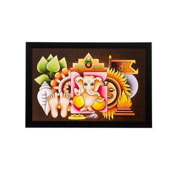 Lord Ganesha Matt Textured UV Art Painting