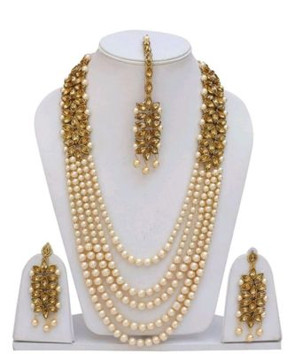 off white kundan necklace sets