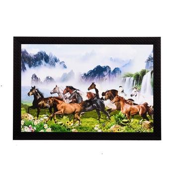 Waterfall & Horses Satin Matt Texture UV Art Painting