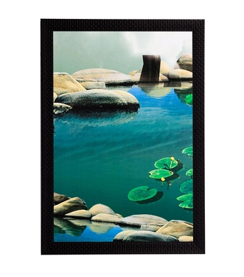 River Bank Satin Matt Texture UV Art Painting