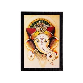 Spiritual Lord Ganesha Matt Textured UV Art Painting