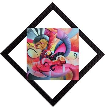 Colored Abstract Satin Matt Texture UV Art Painting
