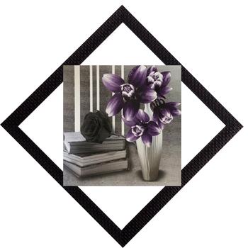 Vase & Books Satin Matt Texture UV Art Painting