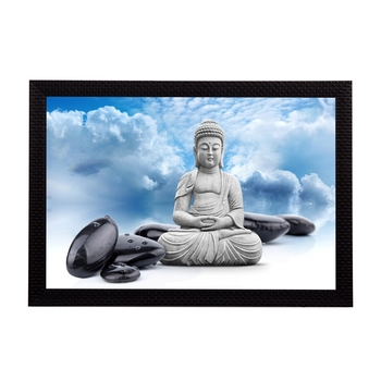 White Lord Buddha Satin Matt Texture UV Art Painting