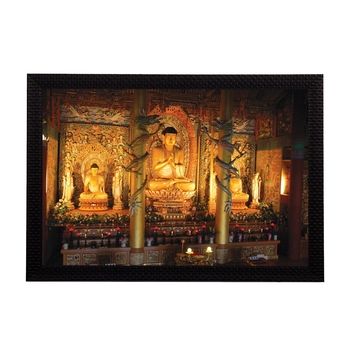 Glowing Lord Buddha Satin Matt Texture UV Art Painting
