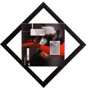 Red & Grey Abstract Satin Matt Texture UV Art Painting