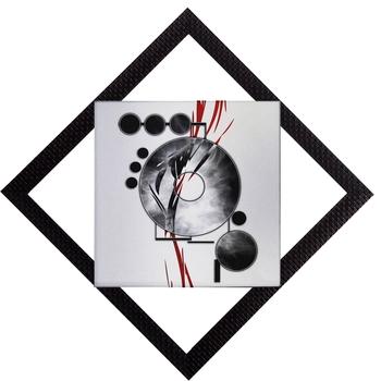 Black & Grey Satin Matt Texture UV Art Painting