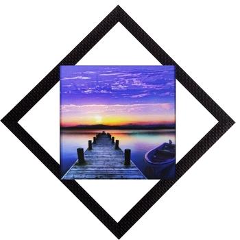 Sunset View Satin Matt Texture UV Art Painting