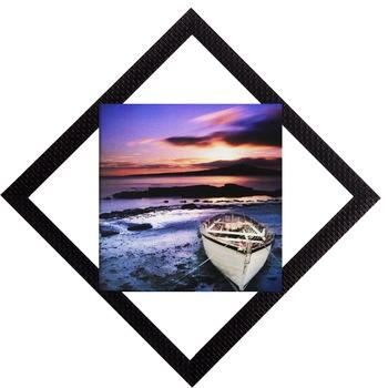 Sunset & Beach View Satin Matt Texture UV Art Painting