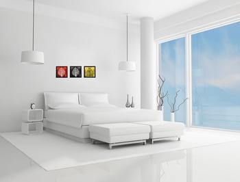 Set of 3 Abstract Design Satin Matt Textured UV Art Painting