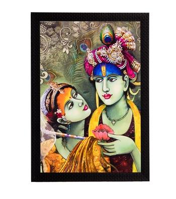 Radha & Krishna Satin Matt Texture UV Art Painting