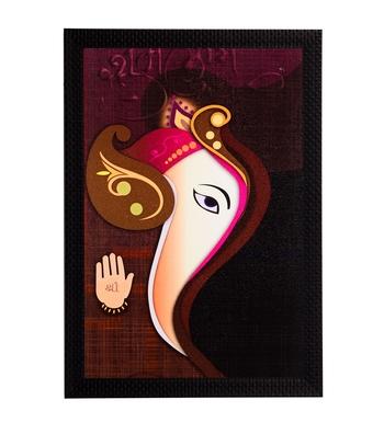Lord Ganesha Abstract Face Satin Matt Texture UV Art Painting