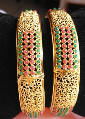 Beautiful green and red colour bangles