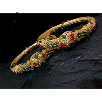 Georgeous high gold plated bangles with openable