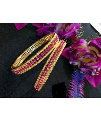 Pink ad bangles