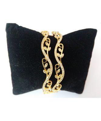 Designer American diamond white bangles