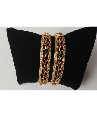 Designer American diamond  multicolour bangles