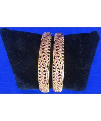 Georgeous high gold plated rubys Bangles