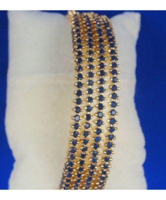 Designer blue American diamond bangles
