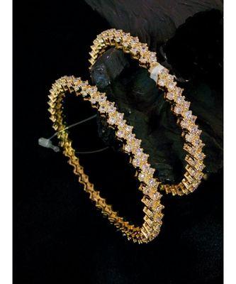 Zirconia stones White colour bangles
