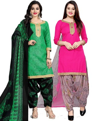 Green digital print cotton salwar