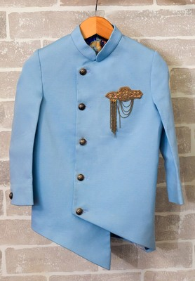 Blue Cotton Coat for Boys