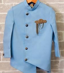 Blue Cotton Coat for Boys