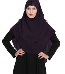 Stylish Purple Khimar Ready To Wear Instant Hijab In Dual Layer
