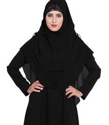 Stylish Black Khimar Ready To Wear Instant Hijab In Dual Layer