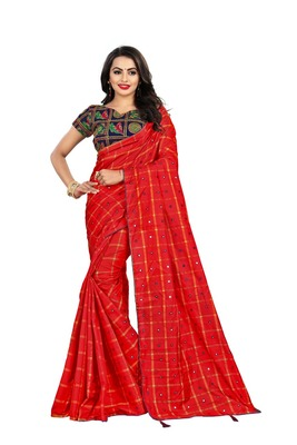 Maroon embroidered south silk saree with blouse