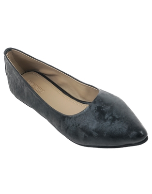 Trends & Trades hand crafted Metallic Black Ballerinas Shoes