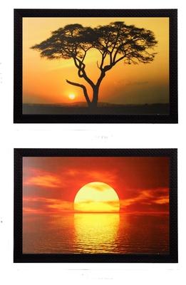 Set of 2 Decorative Satin Matt Texture UV Art Painting