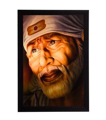 Sai Baba Satin Matt Texture UV Art Painting