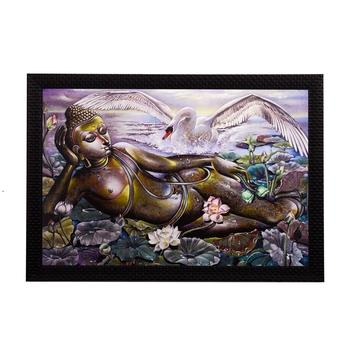 Resting Lord Buddha Satin Matt Texture UV Art Painting