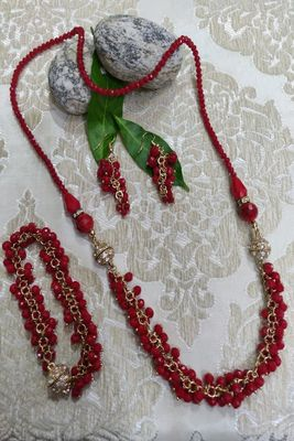 Red and Golden  Necklaces