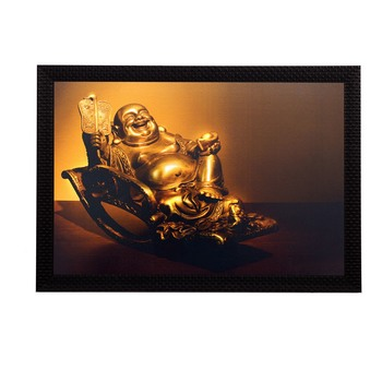 Laughing Buddha Satin Matt Texture UV Art Painting