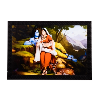 Radha Krishna In Jungle Satin Matt Texture UV Art Painting