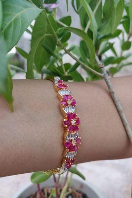 Golden and Pink  Bracelets