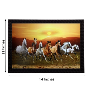 Running Horses Satin Matt Texture UV Art Painting