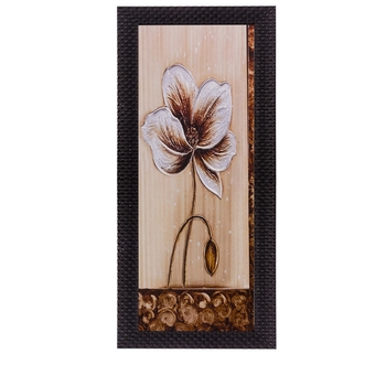 Floral Design Satin Matt Texture UV Art Painting