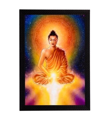 Meditating Lord Buddha & Light Satin Matt Texture UV Art Painting