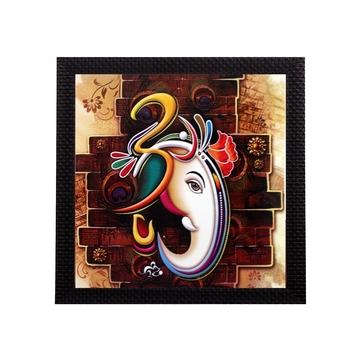 Ganesha Theme Satin Matt Texture UV Art Painting